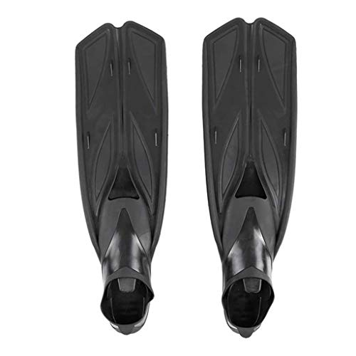 NXYJD Arbitros de Buceo para Nadar Aletas Adultas Zapatos de natación Aletas de Buceo Zapatos de Agua para Nadar Deportes submarinos Adulto (Color : Black, Size : Large-XL)