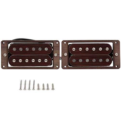 Qqmora Puente de Palisandro 2 Piezas para Guitarra eléctrica