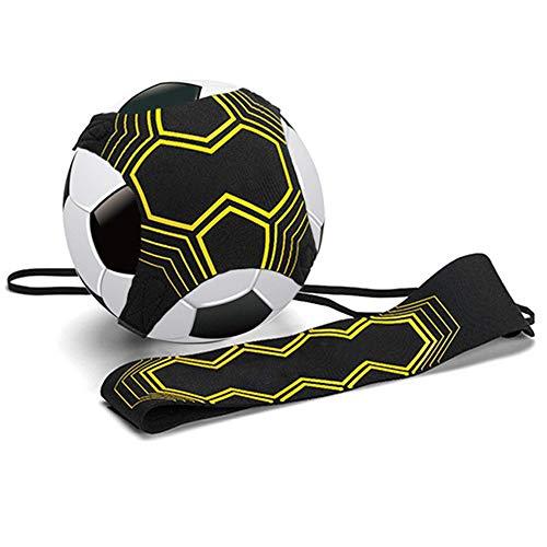 Equipo de entrenamiento de fútbol para niños y adultos Manos libres solo práctica perfecta para mejorar las habilidades de fútbol, ajuste para pelotas de tamaño 3, 4 y 5