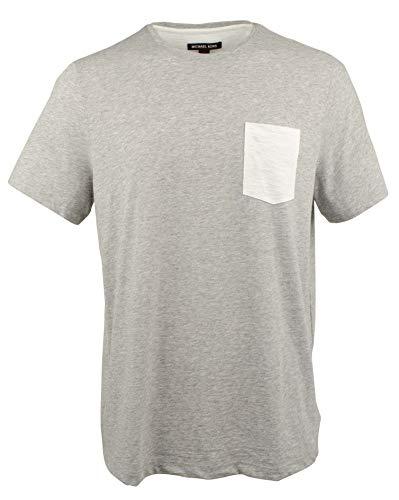 Michael Kors - Camiseta de bolsillo de algodón para hombre - Gris - XX-Large