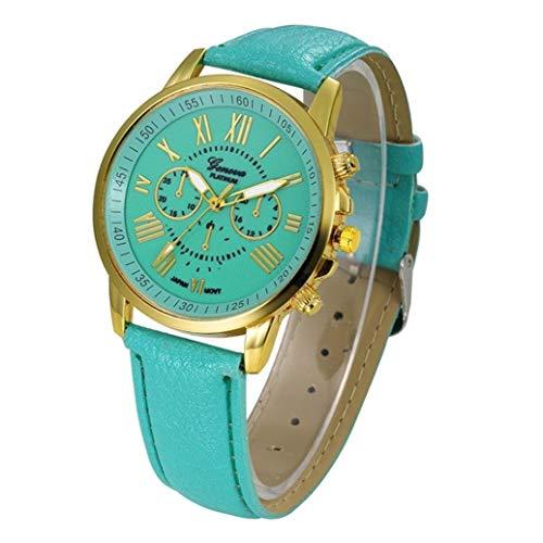 AK.SSI Modische Elegante Damen-Armbanduhr Analog Quarz Edelstahl Mesh Armbanduhr für Frauen, KO5337O14N4DMD855ZN, GreenCG, 43