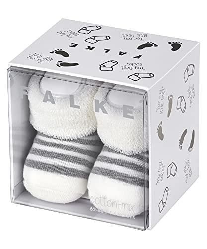 FALKE Unisex Baby Erstlingsringel B SO Socken, Blickdicht, Weiß (Off-White 2041), 50-56