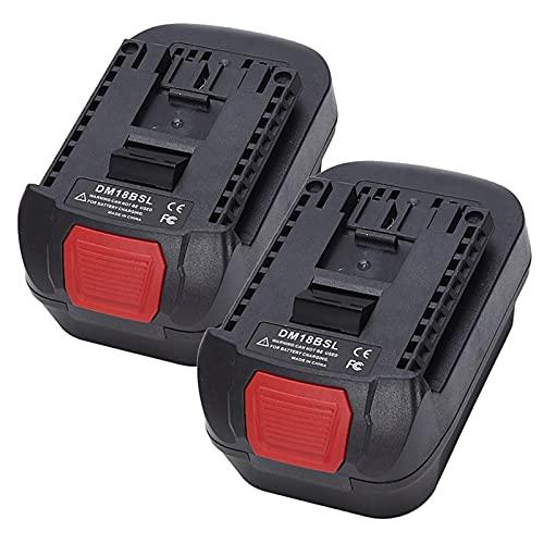 DM18BSL Adaptador con convertidor de batería para Milwakee 18V M18 y para baterías de Iones de Litio de Dewalt 20V para batería de Herramienta eléctrica Bosch 18V, WQQWQQ-8521 (Color : 2 Piece)