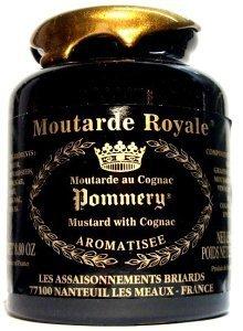Pommery Königlich Senffarben, Vollkorn senffarben mit cognacfarbenen, groß Pommery Moutard Royale - 500g