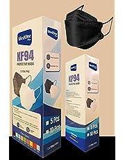 Medone 5 Layer Nano Technology 95% Filtration Disposable Mask - Apple Mask Design (Black) - 10 Pieces