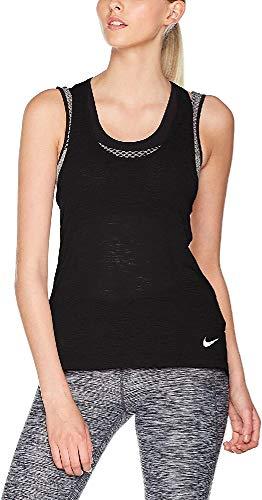 NIKE W Nk Brthe Cool Camiseta, Mujer, Negro (Black), L