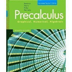 Pre-Calculus Graphical, Numeric, Algebraic 0321131878 Book Cover