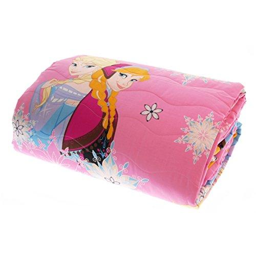 Caleffi Trapuntino Disney Frozen Elsa & Anna Primaverile Estivo 170x265 cm Puro Cotone Rosa