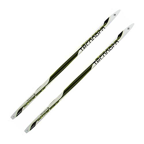 TecnoPro Active Race Grip Junior Langlaufski (Skilänge: 157 cm (ca. 40 bis 49 kg), 900 weiß/schwarz/hellgelb)