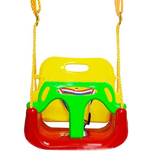 Asiento De Columpio De Jardín para Bebés Pequeños con Barra En T, Marcos De Columpio para Niños De Altura Ajustable con Dispositivo De Seguridad Accesorio De Marco De Escalada,Rojo