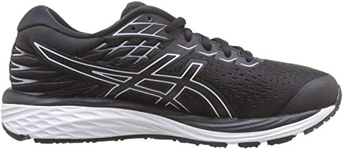ASICS Womens Gel-Cumulus 21 Running Shoe, Black/White, 42 EU