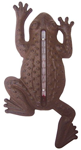 Fallen Fruits Cast Iron Frog Thermometer