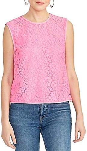 RACHEL Rachel Roy Women s Addie Sleeveless Lace Top Neon Flamingo Medium product image