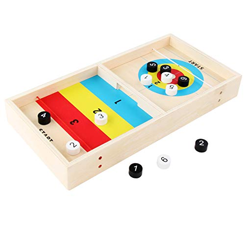 Great Features Of xlpace Desktop Game Mini Wooden Ice Hockey Table Games Fun Toy Kids Physical Coord...