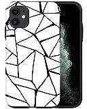 CASFY - Carcasa para iPhone 11, diseño geométrico con estructura geométrica, color blanco y negro KU133_7, diseño de moda, accesorios de teléfono