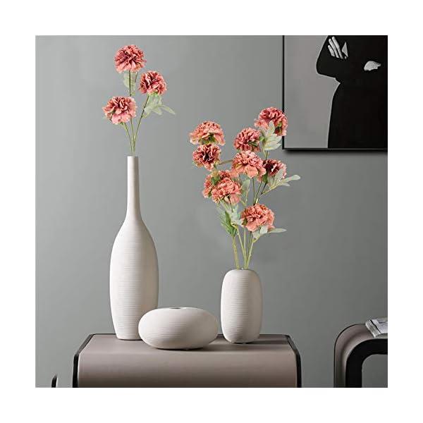 XHXSTORE 3pcs Ramo de Flores Artificiales Decoraciones Rosas Oscura Flor Hortensia Artificial de Tela Ramo de Novia para…