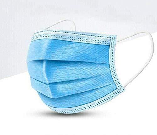 50/60/ 70/80/ 90/ 100PCS Maschera Monouso, con Orecchini Elastici Maschera di Sicurezza per Protezione da Polveri Tre Strati Maschera Tessuto Non Tessuto,70PCS