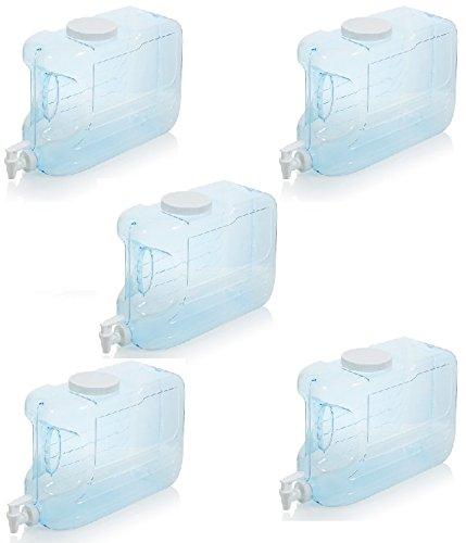 Arrow H2O 2.5-Gal Slimline Beverage Dispenser, Blue - 5 Packs