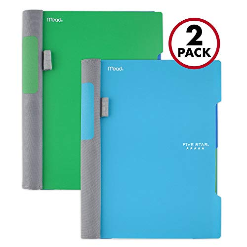 "Five Star Advance Spiral Notebooks, 2 Subject, College Ruled Paper, 100 Sheets, 9-1/2"" x 6"", Green, Teal, 2 Pack (38638)"