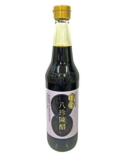 八珍陳酢 500ml 香港の老舗「八珍」 天然熟成の高級黒酢 まろやかなコクのある酸味 点心のタレに 添加物不使用 本来の旨みがある本物の黒酢