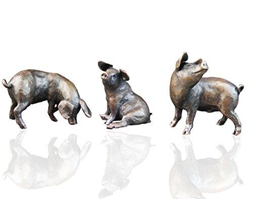Bronzefiguren Drei kleine Schweine – Limited Edition – Michael Simpson