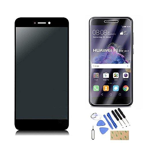 Bonaier Huawei P8 Lite 2017 Display im Komplettset LCD Ersatz Für Touchscreen Glas Reparatur (Schwarz)