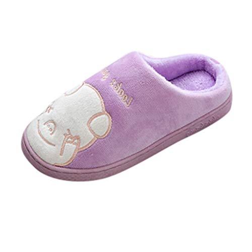 DNOQN Damen Herren Paare Warm Schlüpfen Niedlicher Cartoon Boden nach Hause Hausschuhe Indoor Schuhe