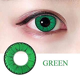 2PCS Fashion Cosmetic Contact Lenses Crazy Big Circle Eyes Makeup Party Beauty Lens Women Eyes Make Up Yearly Use with Case