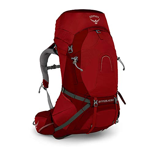 Osprey Atmos AG 50 Men's Backpacking Pack - Rigby Red (LG)