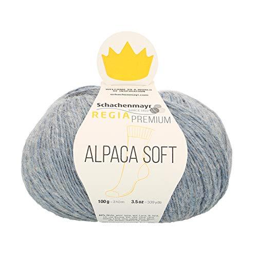 Regia Premium Alpaca Soft Wool 9801631-00050, color: hellblau, presentación: 100g, Hilos para tejer...
