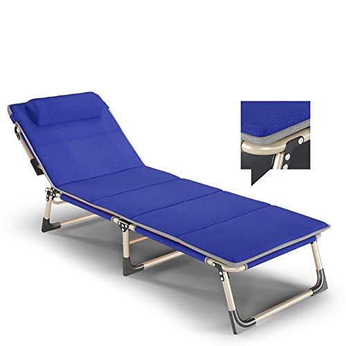 YQAD Sedie a Sdraio Pieghevoli in Metallo Sedie da Giardino Pieghevoli Sedie da Campeggio a gravità Zero-Blue
