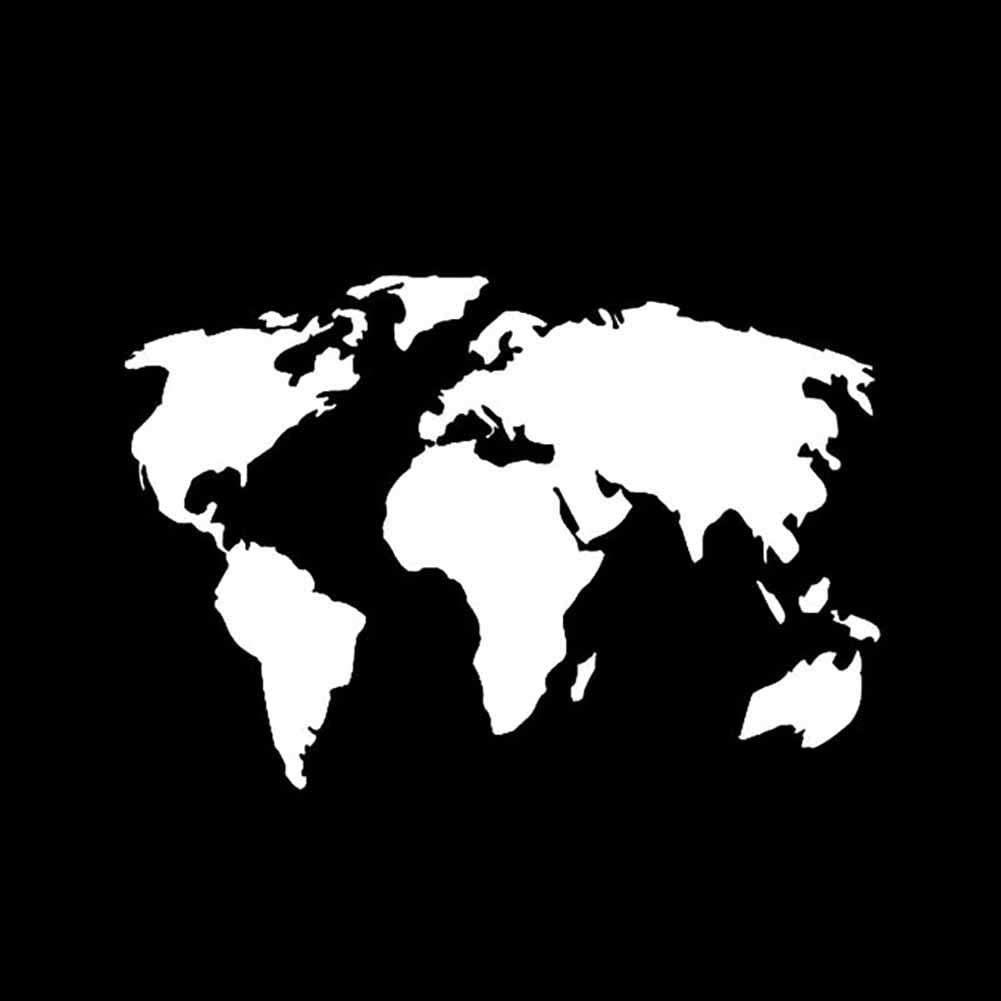 Decals for Truck Auto Car Body Side Door World Map Car-Styling SUV Truck Body Window Reflective Decals Sticker Decor for Wall Window Car Laptop T-Shirts Black MoO1deer Car Stickers