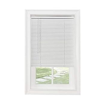 Achim Home Furnishings Cordless Morningstar 1  Light Filtering Mini Blind Width 46inch Pearl White