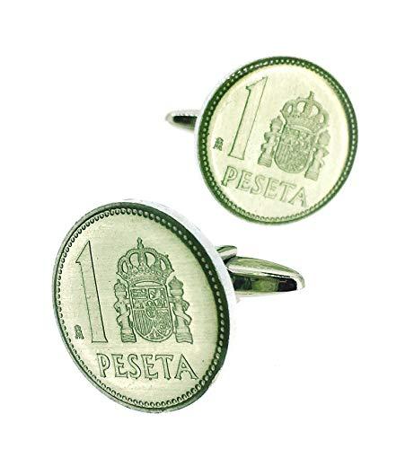 Manchetknopen voor hemd munten 1 halter wapen aluminium