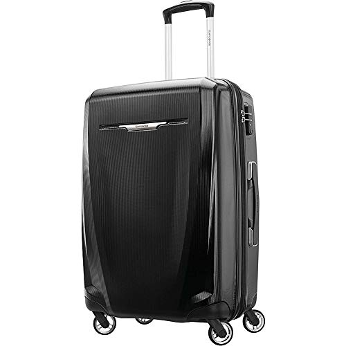 Samsonite Winfield 3 DLX Hardside Luggage, Black, Checked-Large
