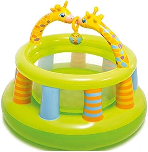 Hüpfburgen Kinder Indoor Trampolin Sommer Kinderpool Home Kinder Spiel Zaun Aufblasbare Spielzeug Burg Kinderspielzeug Geben Sie Ihrem Kind (Farbe   Grün, Größe   122  89cm)