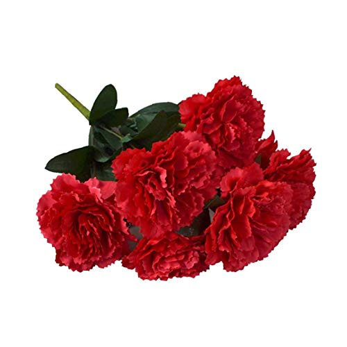 XKJFZ Claveles Simulación Artificial De La Flor del Hydrangea del Ramo De Claveles Rojos Ramo De Flores para La…