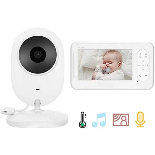 Babyfoon Met Camera, 4,3 Inch LCD-scherm Monitor, Auto Nachtzicht, 2-weg Talk Back Audio & Temperature Display, Home Security Camera For Baby/Dier/Nanny/Ouderen