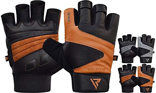 RDX Fitness Handschuhe Gewichtheben Handgelenkschutz Trainingshandschuhe Sporthandschuhe Krafttraining Bodybuilding Gym Workout Gloves (MEHRWEG)