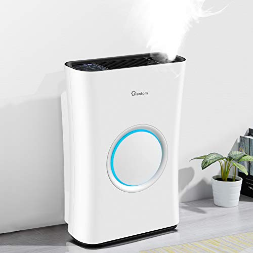 Hestom Air Purifier with Humidifier for Large...