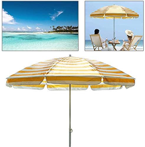 Parasol Sun Shade Canopy Umbrella for Outdoor Garden Patio Summer Camping with 8 Sturdy Ribs and Crank Lift