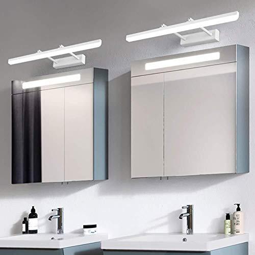 Plafondlamp Wandlamp -Modern Minimalist telescopische roestvrij Muurlampen -LED Mirror Headlight -Badkamer kaptafel Wand Lamp (Color : White White Light, Size : 40cm)