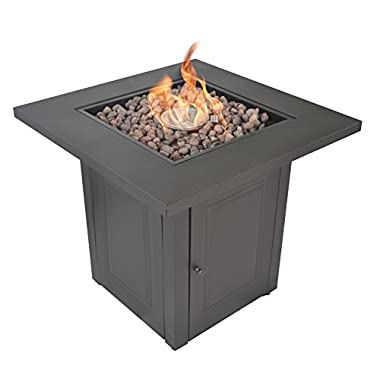 LEGACY HEATING 28-Inch Square Fire Table, Mocha powder coated finish