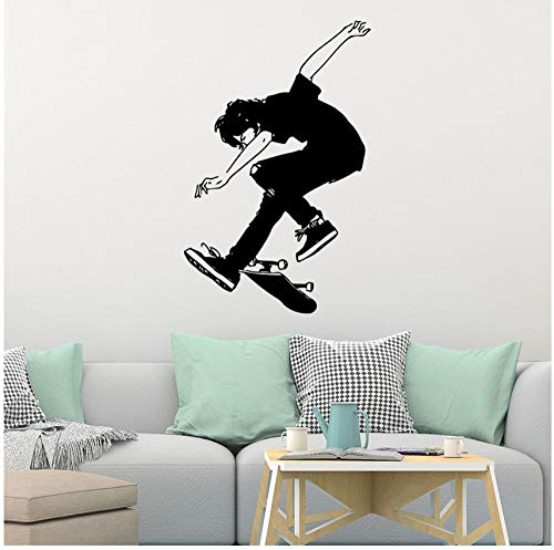 Wandaufkleber diy skateboard familie mural art home kinderzimmer dekoration wall42cmx65cm