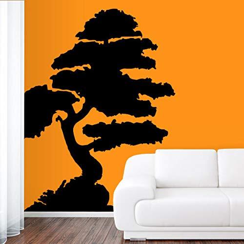 Vinilo adhesivo de pared Bonsai Japón árbol chino Felicidad rama 22 pulgadas