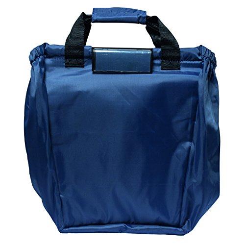 Zapato XXL winkelwagentas met kliksysteem en grote koeltas boodschappentas Shopper Shopping Bag opvouwbaar donkerblauw