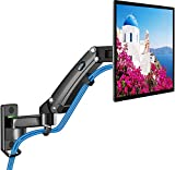 Monitor Wall Mount - Gas Spring Arm Wall Mount Stand for 24 to 35 Inch Screen, Full Motion Adjustable Vesa Bracket, Hold 3.3 to 26.4lbs, Vesa 75 100 200