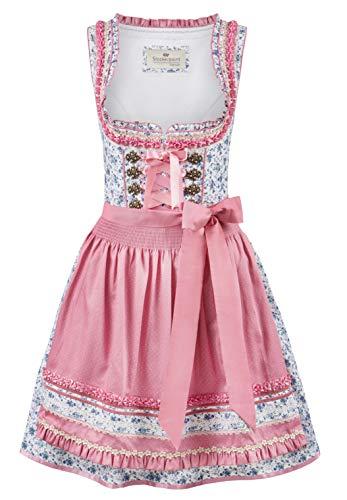 Stockerpoint Damen Dirndl Fidelia Kleid für besondere Anlässe, Flower-Rose, 36