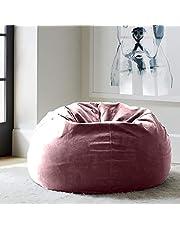 Regal In House relaxing bean bag  velvet Large - Pink