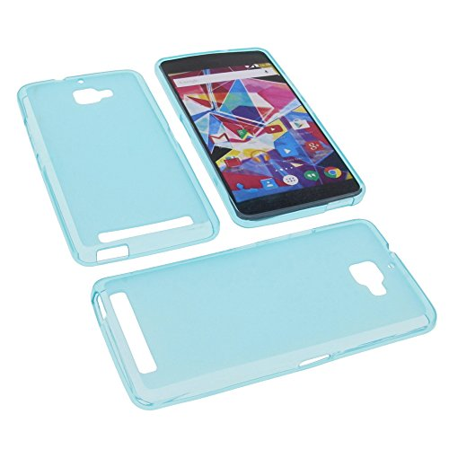 foto-kontor Tasche für Archos Diamond Plus Gummi TPU Schutz Hülle Handytasche blau